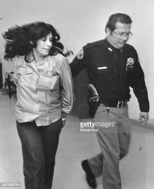 Irene Bravo is led from the courtroom Credit The Denver Post