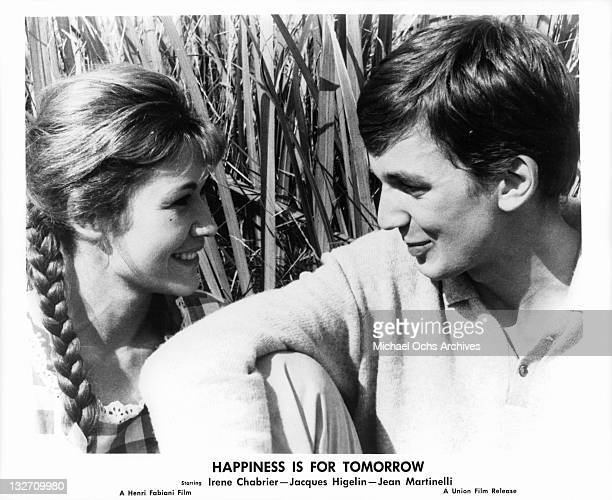 Irene Chabrier and Jacques Higelin spending time together in a scene from the film 'Happiness Is For Tomorrow' 1961