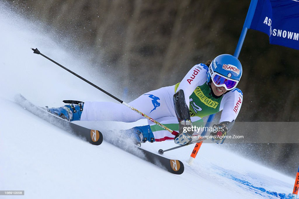 <a gi-track='captionPersonalityLinkClicked' href=/galleries/search?phrase=Irene+Curtoni&family=editorial&specificpeople=5589660 ng-click='$event.stopPropagation()'>Irene Curtoni</a> of Italy competes during the Audi FIS Alpine Ski World Cup Women's Giant Slalom on November 24, 2012 in Aspen, Colorado.