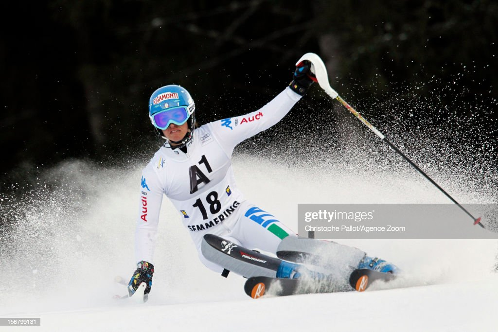 Irene Curtoni of Italy competes during the Audi FIS Alpine Ski World Cup Women's Slalom on December 29, 2012 in Semmering, Austria.