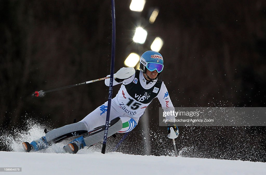 Irene Curtoni of Italy competes during the Audi FIS Alpine Ski World Cup Women's Slalom on January 4, 2013 in Zagreb, Croatia.