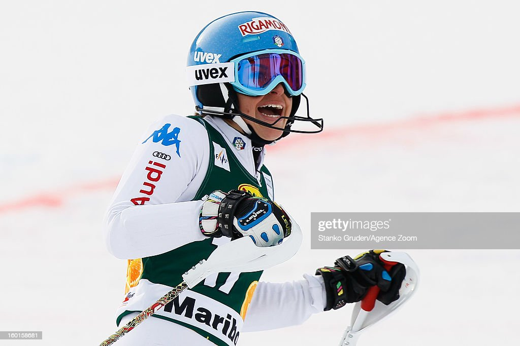 <a gi-track='captionPersonalityLinkClicked' href=/galleries/search?phrase=Irene+Curtoni&family=editorial&specificpeople=5589660 ng-click='$event.stopPropagation()'>Irene Curtoni</a> of Italy competes during the Audi FIS Alpine Ski World Cup Women's Slalom on January 27, 2013 in Maribor, Slovenia.