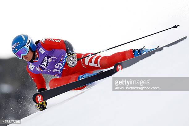 Irene Curtoni of Italy competes during the Audi FIS Alpine Ski World Cup Women's Giant Slalom on October 25 2014 in Soelden Austria