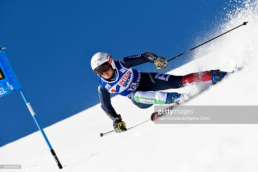 <a gi-track='captionPersonalityLinkClicked' href=/galleries/search?phrase=Irene+Curtoni&family=editorial&specificpeople=5589660 ng-click='$event.stopPropagation()'>Irene Curtoni</a> of Italy competes during the Audi FIS Alpine Ski World Cup Women's Giant Slalom on December 20, 2015 in Courchevel, France.