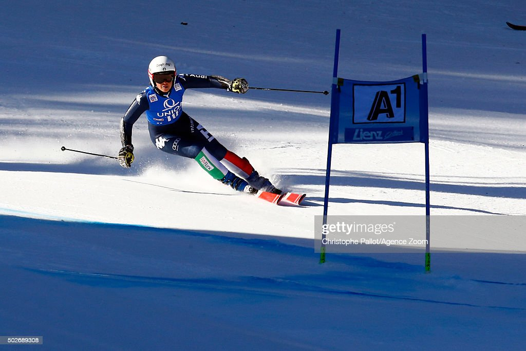 <a gi-track='captionPersonalityLinkClicked' href=/galleries/search?phrase=Irene+Curtoni&family=editorial&specificpeople=5589660 ng-click='$event.stopPropagation()'>Irene Curtoni</a> of Italy competes during the Audi FIS Alpine Ski World Cup Women's Giant Slalom on December 28, 2015 in Lienz, Austria.