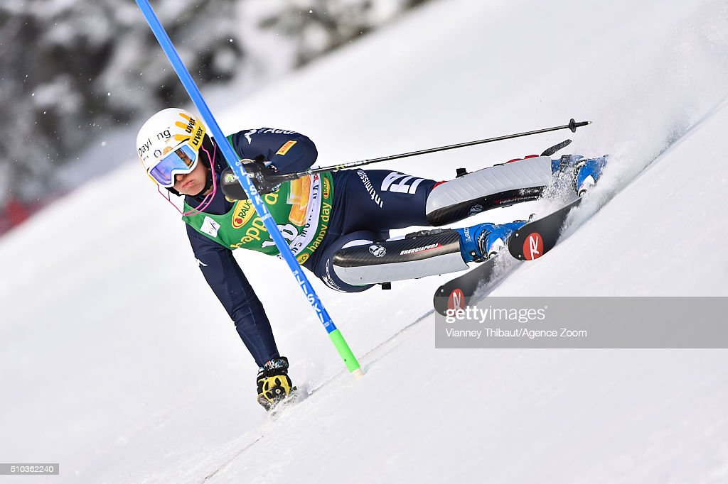 <a gi-track='captionPersonalityLinkClicked' href=/galleries/search?phrase=Irene+Curtoni&family=editorial&specificpeople=5589660 ng-click='$event.stopPropagation()'>Irene Curtoni</a> of Italy competes during the Audi FIS Alpine Ski World Cup Women's Slalom on February 15, 2016 in Crans Montana, Switzerland.