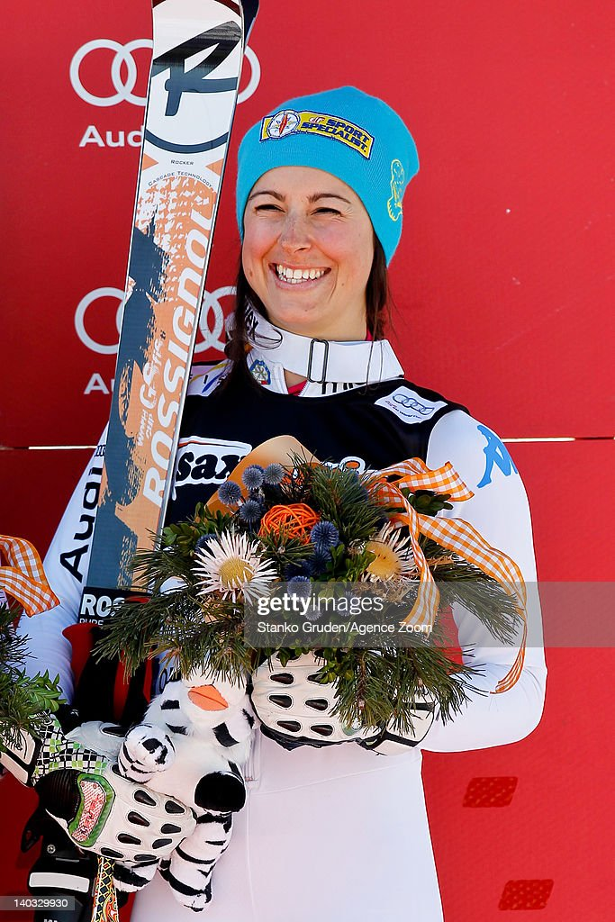 <a gi-track='captionPersonalityLinkClicked' href=/galleries/search?phrase=Irene+Curtoni&family=editorial&specificpeople=5589660 ng-click='$event.stopPropagation()'>Irene Curtoni</a> of Italy takes 3rd place during the Audi FIS Alpine Ski World Cup Women's Giant Slalom on March 2, 2012 in Ofterschwang, Germany.