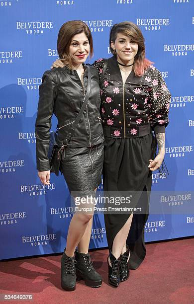 Irene Fernandez and Angy Fernandez attends 'Ramones' 40th anniversary party on May 26 2016 in Madrid Spain