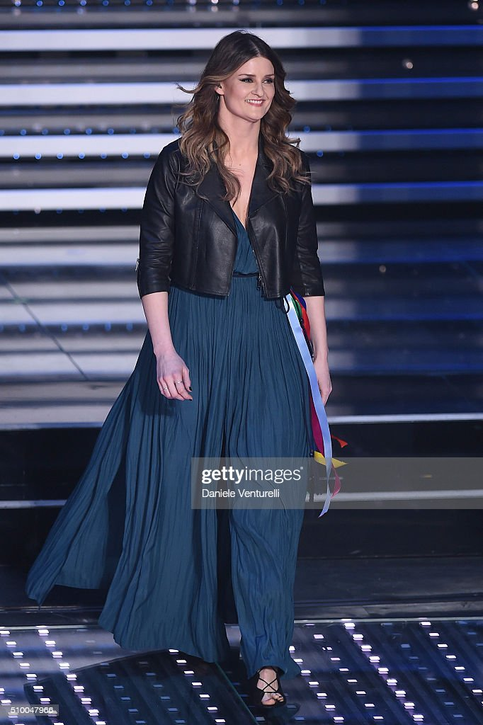 Irene Fornaciari attends the closing night of 66th Festival di Sanremo 2016 at Teatro Ariston on February 13, 2016 in Sanremo, Italy.