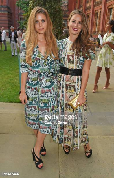 Irene Forte and Lydia Forte attend the 2017 annual VA Summer Party in partnership with Harrods at the Victoria and Albert Museum on June 21 2017 in...