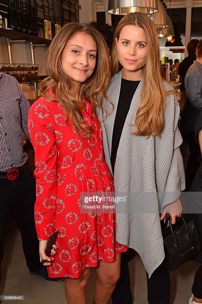 Irene Forte (R) and Yasmine Larizadeh attend the The Good Life Eatery Cookbook Launch Party��in Knightsbridge on April 28, 2016 in London, England.