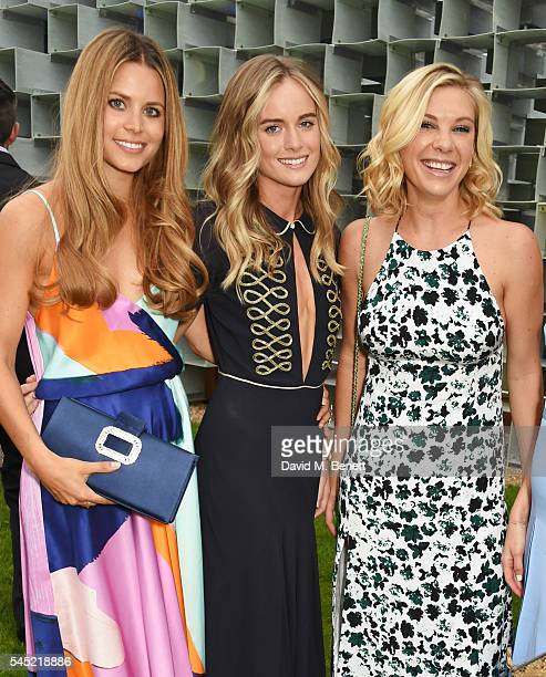 Irene Forte Cressida Bonas and Chelsy Davy attend The Serpentine Summer Party cohosted by Tommy Hilfiger on July 6 2016 in London England