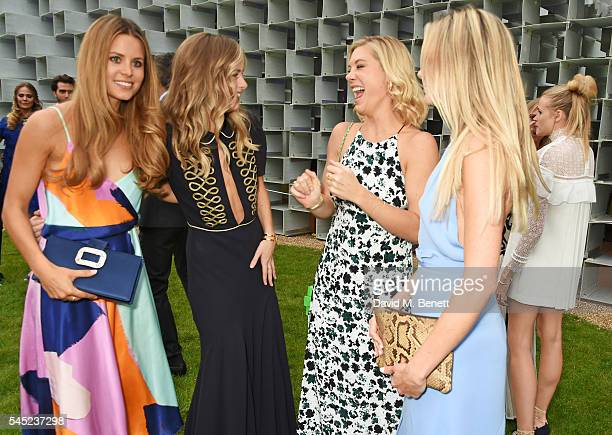 Irene Forte Cressida Bonas Chelsy Davy and guest attend The Serpentine Summer Party cohosted by Tommy Hilfiger on July 6 2016 in London England