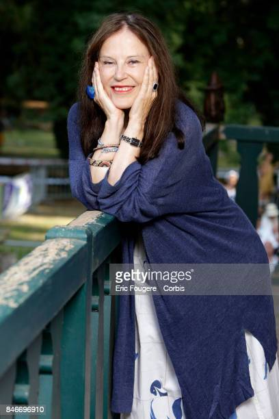 Irene Frain poses during a portrait session in Paris France on