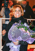 Irene Grandi during the catwalk before the start of the sixtyfifth festival of Italian song of Sanremo on February 9 2015