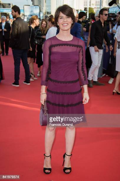 Irene Jacob arrives for the screening of the film 'Good Time' during the 43rd Deauville American Film Festival on September 2 2017 in Deauville France