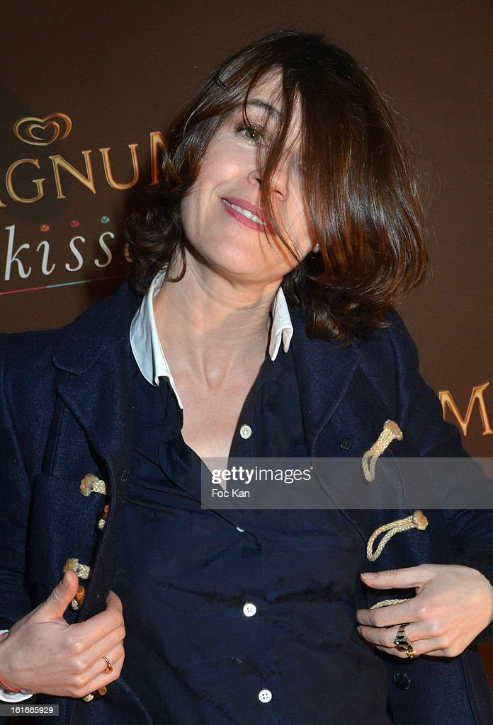 Irene Jacob attends 'Magnum Ice Creams' Party for Valentine's day at Pavillon Cambon Capucines on February 13, 2013 in Paris, France.