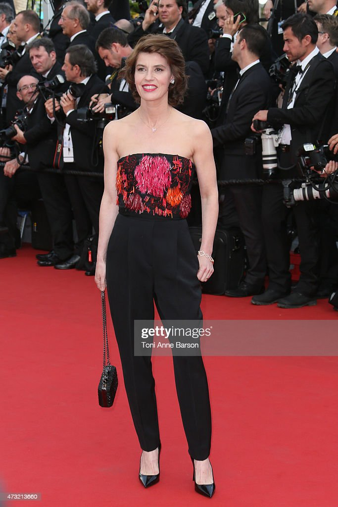 Irene Jacob attends the opening ceremony and 'La Tete Haute' ('Standing Tall') premiere during the 68th annual Cannes Film Festival on May 13, 2015 in Cannes, France.