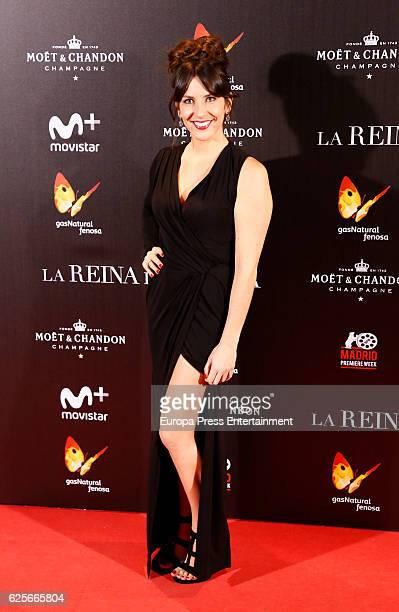 Irene Junquera attends 'La Reina de Espana' premiere at Callao City Lights on November 24 2016 in Madrid Spain