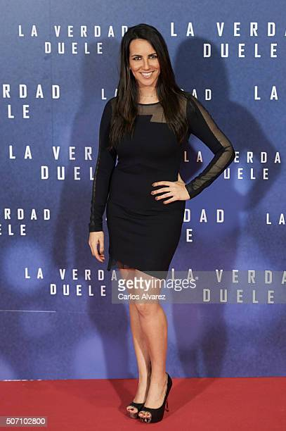 Irene Junquera attends the Concussion premiere at the Callao cinema on January 27 2016 in Madrid Spain