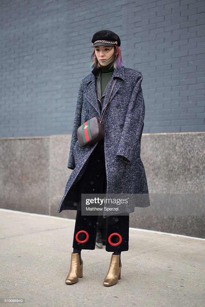 Irene Kim is seen at Lacoste during New York Fashion Week: Women's Fall/Winter 2016 on February 13, 2016 in New York City.