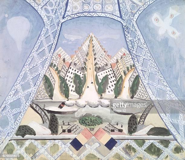 Irene LagutFrench schoolSet designs for the 'Maries de la Tour Eiffel' by Jean Cocteau Music by Germaine Taillefer Georges Auric Arthur Honegger...