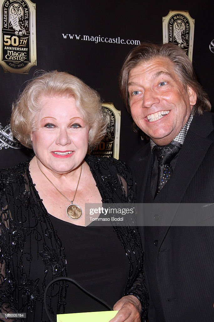 Irene Larsen (L) and guest attend the Academy Of Magical Arts 45th Annual AMA Awards Show held at the Orpheum Theatre on April 7, 2013 in Los Angeles, California.