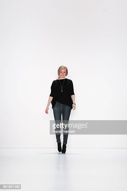 Irene Luft attends her show during the MercedesBenz Fashion Week Berlin Autumn/Winter 2015/16 at Brandenburg Gate on January 22 2015 in Berlin Germany