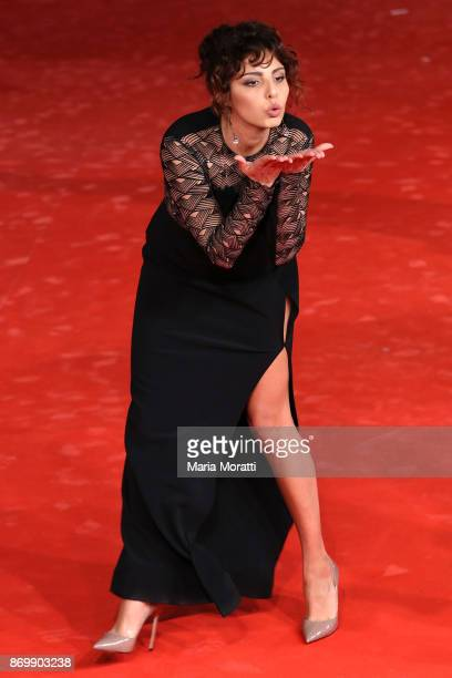 Irene Maiorino walks a red carpet for 'NYsferatu Symphony Of A Century' during the 12th Rome Film Fest at Auditorium Parco Della Musica on November 3...