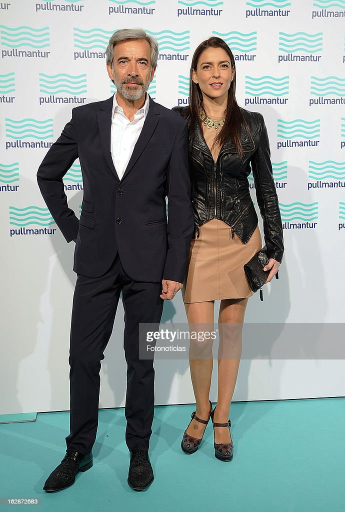 Irene Meritxell (L) and Imanol Arias attend the Blue Night by Pullmantur at Neptuno Palace on February 28, 2013 in Madrid, Spain.