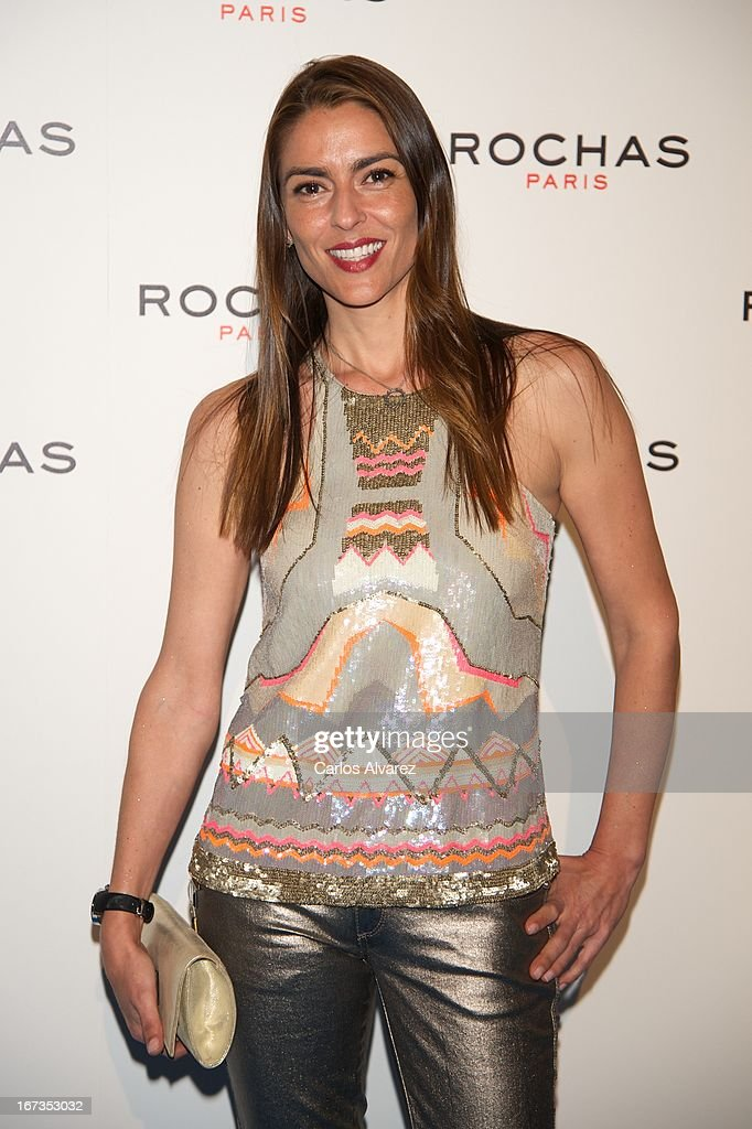 Irene Meritxell attends the Rochas event at the French embassy on April 24, 2013 in Madrid, Spain.
