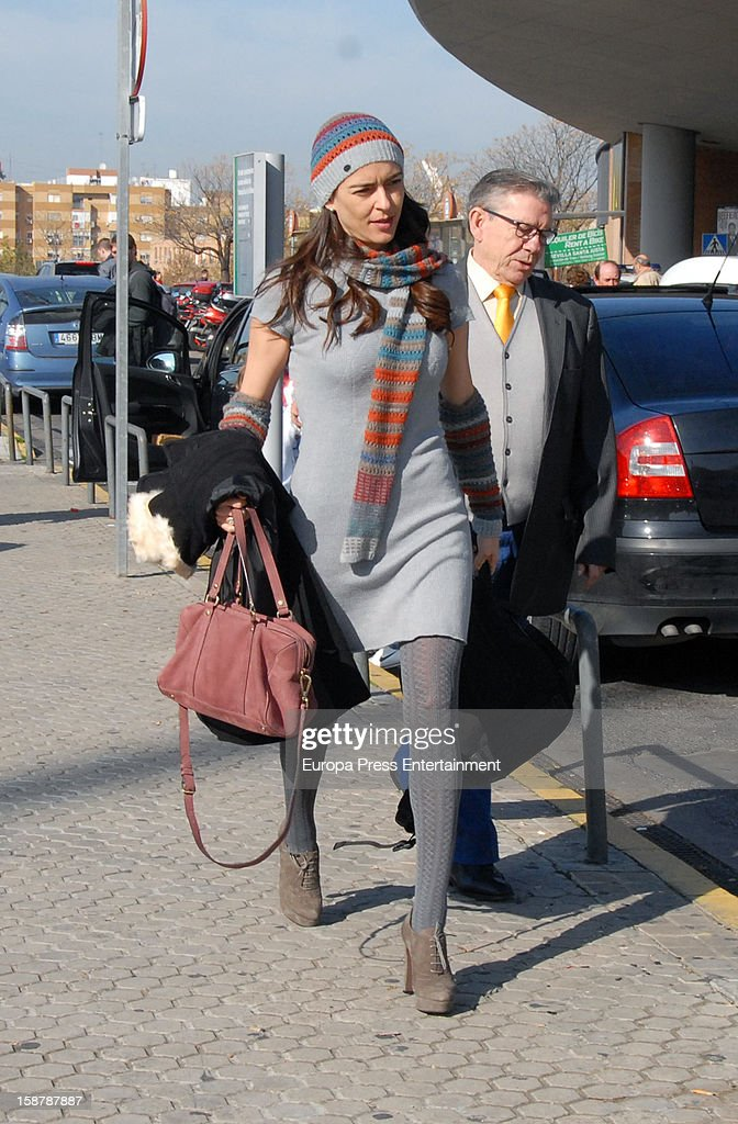 Irene Meritxell is seen on December 24, 2012 in Seville, Spain.