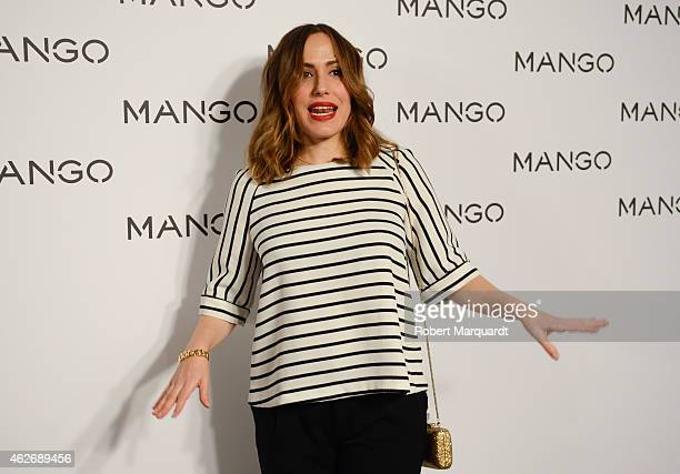 Irene Montala poses during a photocall for the Mango fashion show at '080 Barcelona Fashion Week 2015 Fall/Winter collection' on February 2 2015 in...