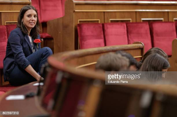 Irene Montero attend the commemoration of first democracy election at Congress of deputies on June 28 2017 in Madrid Spain
