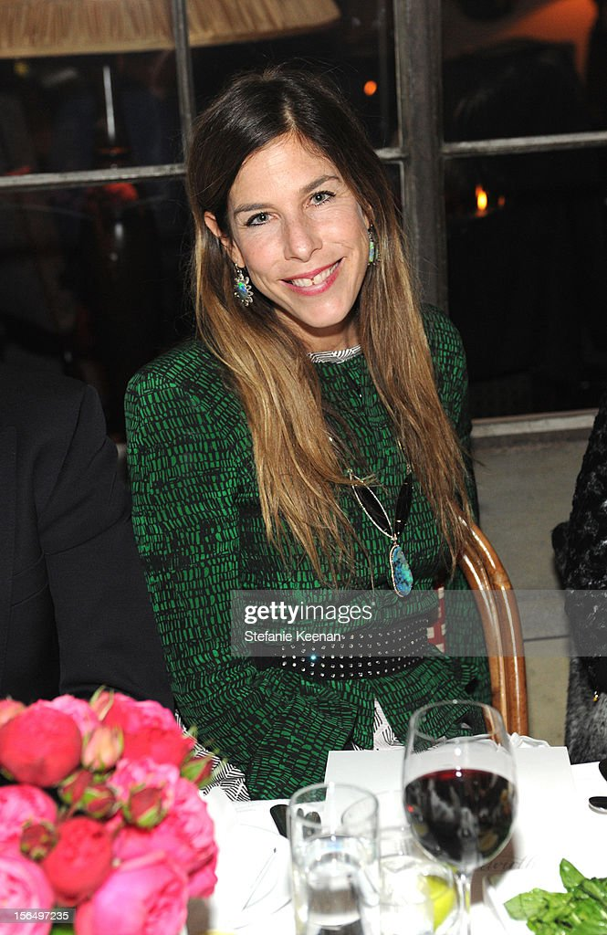Irene Neuwirth attends Juan Carlos Obando Jewelry Collection Launch Dinner at Chateau Marmont on November 15, 2012 in Los Angeles, California.