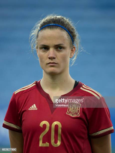 Irene Paredes Hernandez of Spain during the 2017 Algarve Cup Final between Spain and Canada at the Estadio Algarve on March 08 2017 in Faro Portugal