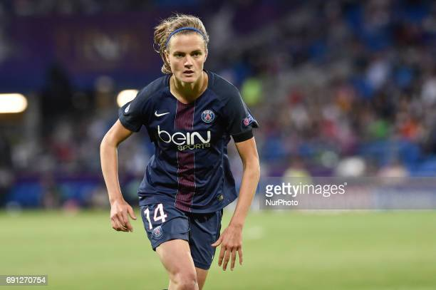 Irene Paredes of Paris SaintGermain during the UEFA Women's Champions League Final between Lyon Women and Paris Saint Germain Women at the Cardiff...
