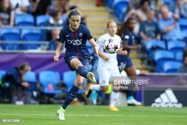 Irene Paredes of Paris SaintGermain during the UEFA Women's Champions League final football match between Lyon and Paris SaintGermain at the Cardiff...