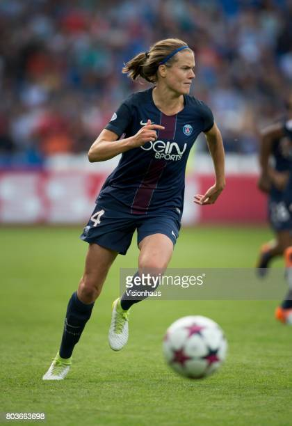 Irene Paredes of Paris St Germain in action during the UEFA Women's Champions League Final between Olympique Lyonnais and Paris St Germain at the...