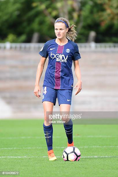 Irene Paredes of PSG during the women's French D1 league match between PSG and Olympique de Marseille at Camp des Loges on September 25 2016 in Saint...