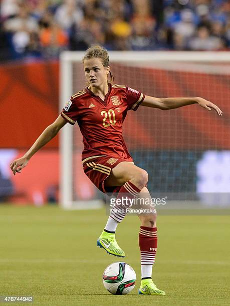 Irene Paredes of Spain looks to play the ball during the 2015 FIFA Women's World Cup Group E match against Costa Rica at Olympic Stadium on June 9...
