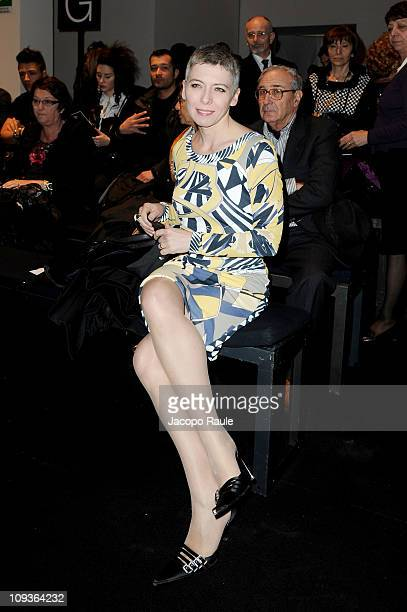 Irene Pivetti attends the Angelo Marani Fashion Show as part of Milan Fashion Week Womenswear Autumn/Winter 2011 on February 23 2011 in Milan Italy