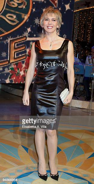 Irene Pivetti attends the Italian TV program '2009 Horoscope' by Paolo Fox at RAI studios on December 16 2009 in Rome Italy