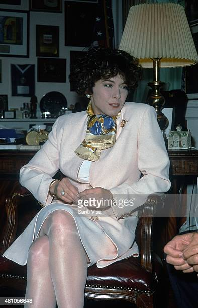 Irene Pivetti Italian Speaker of the House on May 6 1995 in New York New York