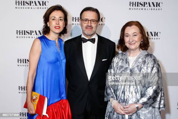 Irene Rodriguez Jose Antonio Llorente and Petra MateosAparicio Morales during the 2017 Hispanic Society Museum Library Annual Gala on October 12 2017...