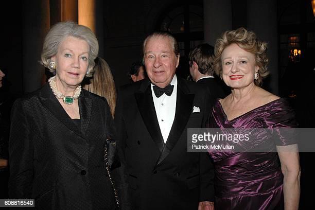 Irene Roosevelt Aiken Stanley Scott and Elizabeth Scott attend The FRICK Collection's Autumn Dinner Honoring Ann and John Marion at The Frick...