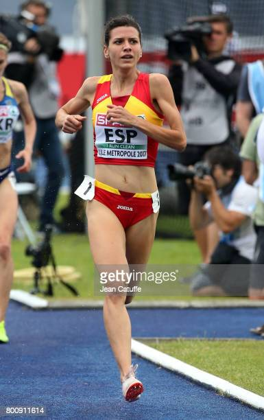 Irene Sanchez of Spain during the 3000m Steeplechase on day 2 of the 2017 European Athletics Team Championships at Stadium Lille Metropole on June 24...