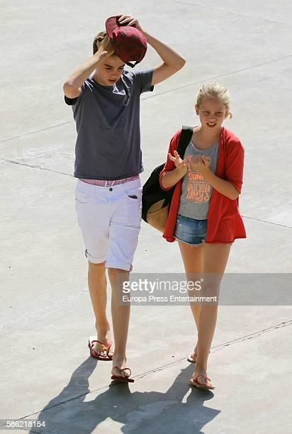 Irene Urdangarin and Pablo Nicolas Urdangarin are seen on on August 5 2016 in Palma de Mallorca Spain