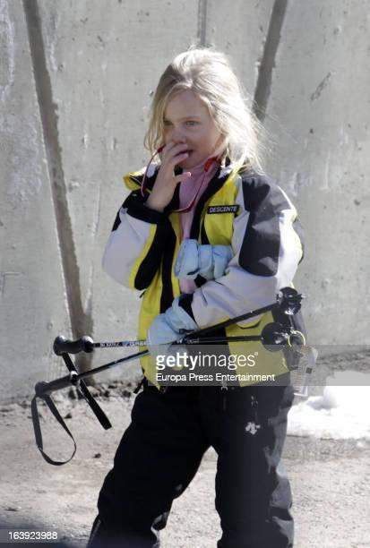 Irene Urdangarin is seen on February 17 2013 in Baqueira Beret Spain