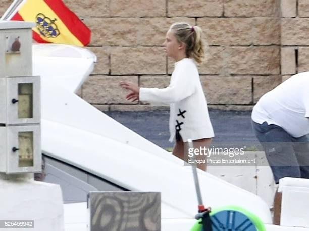 Irene Urdangarin sailing on August 1 2017 in Palma de Mallorca Spain